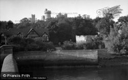 Arundel, Castle From The Bridge c.1952