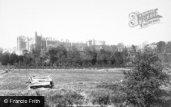 Arundel, Castle From The Meadows 1900