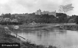 Castle From The River Arun 1928, Arundel
