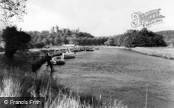 Arundel, Castle From The River Arun c.1960