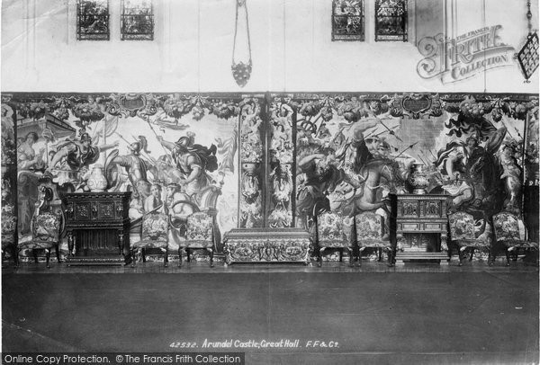 Arundel, Castle, Tapestry In The Great Hall 1898