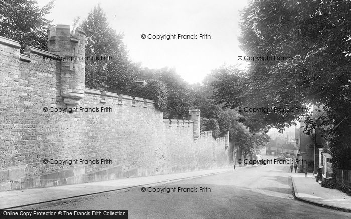 Photo of Arundel, Castle Wall 1928
