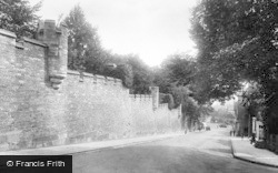 Arundel, Castle Wall 1928