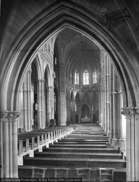 Photo of Arundel, Church Of St Philip Neri, Nave West 1928