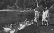 Arundel, Feeding The Swans, Swanbourne Lake 1930
