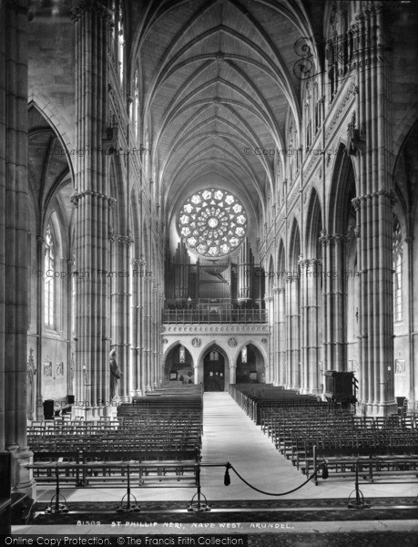 Photo of Arundel, St Philip Neri Roman Catholic Church Interior 1928