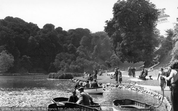 Photo of Arundel, Swanbourne Lake c.1955