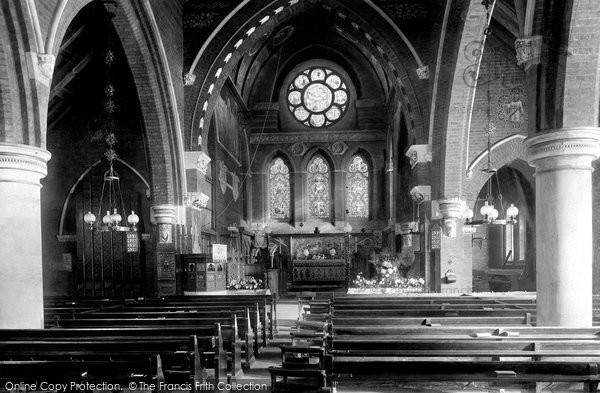Photo of Ascot, All Saints Church Interior 1903