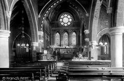 Ascot, All Saints Church Interior 1903