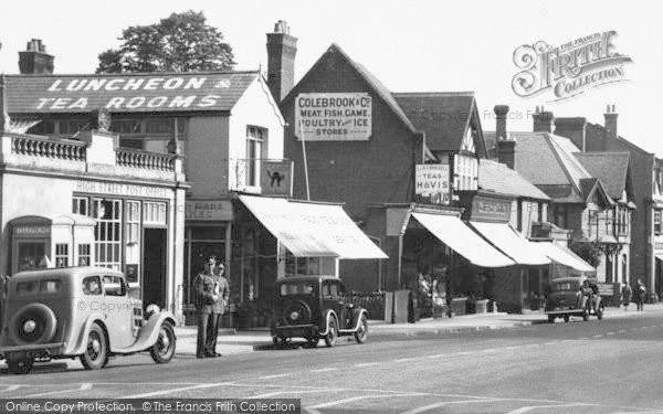 Photo of Ascot, High Street, Post Office And Shops c.1955