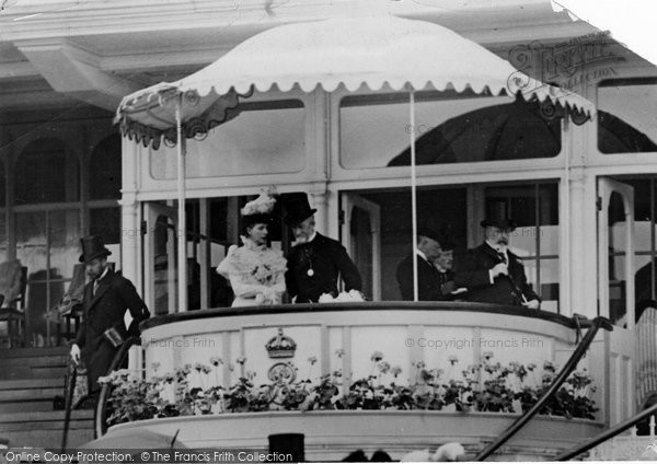 Photo of Ascot, King And Queen In Royal Stand 1904