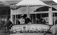 Ascot, King And Queen In Royal Stand 1904