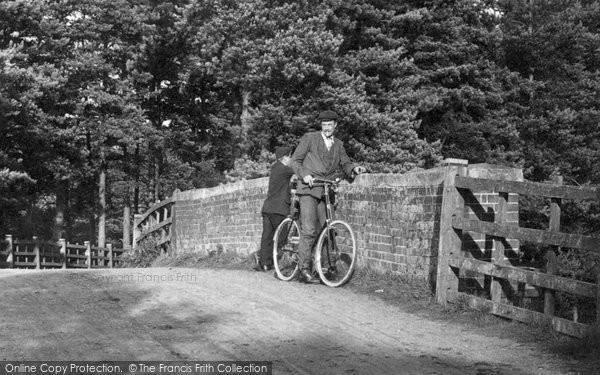 Photo of Ascot, Man And Bicycle 1906