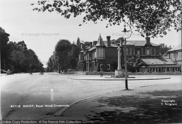 Photo of Ascot, Royal Hotel Crossroads c.1955