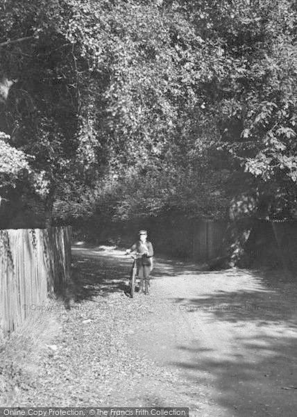 Photo of Ascot, Sandy Lane, Boy And Bicycle1906