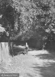 Ascot, Sandy Lane, Boy And Bicycle1906
