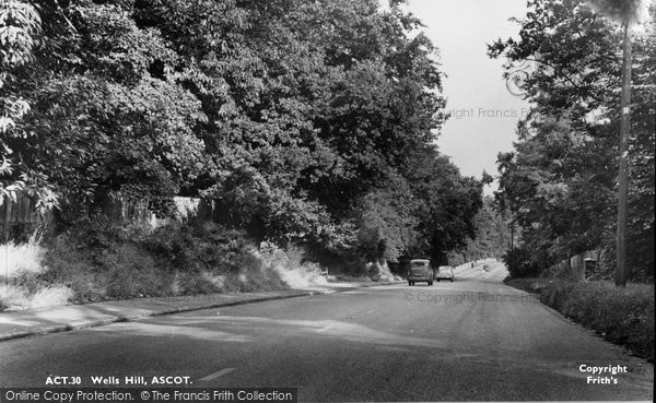 Photo of Ascot, Wells Hill c.1955