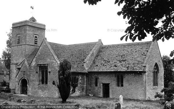Ascott-Under-Wychwood, the Church c1950