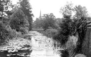 Asfordby, River Wreak and the Church c1955