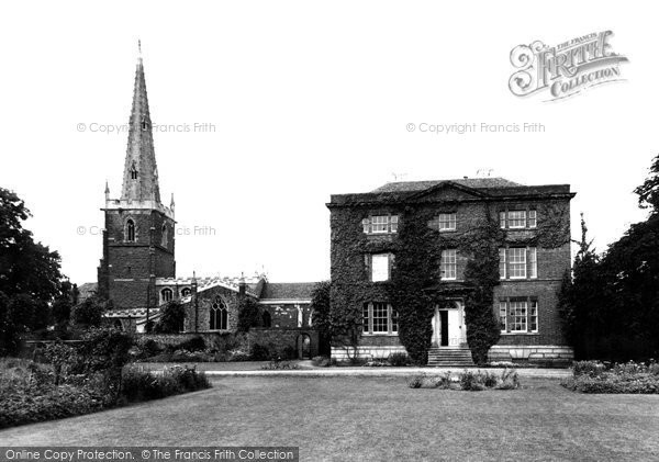 Photo of Asfordby, the Church and Rectory c1955