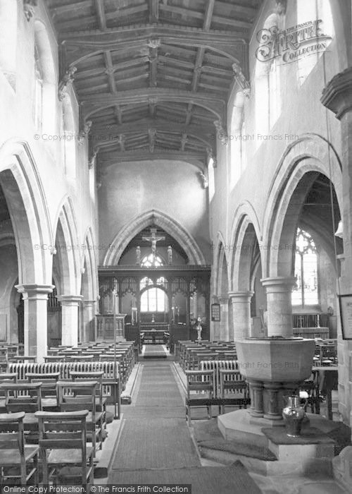 Photo of Asfordby, The Church By The Wreak, The Nave c.1960