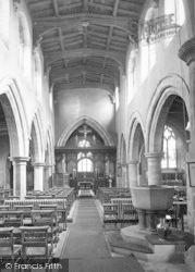 Asfordby, The Church By The Wreak, The Nave c.1960