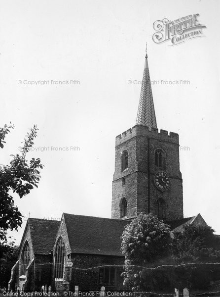 Photo of Ash, St Nicholas' Church c1955