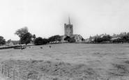 Ash, St Nicholas' Church From Moat Farm c.1965