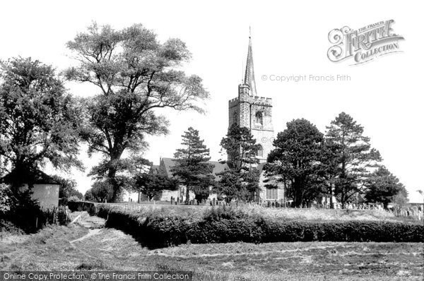 Photo of Ash, St Nicholas' Church From The Meadows c.1955