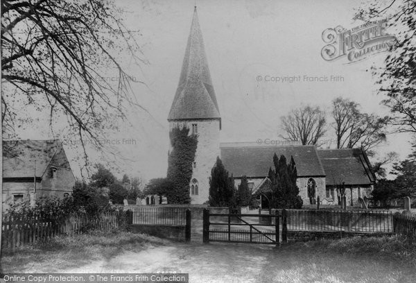 Photo of Ash, St Peter's Church 1905