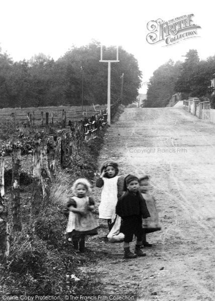 Photo of Ash Vale, Children In Wharf Road 1906