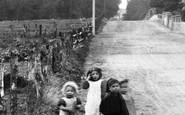Ash Vale, Children In Wharf Road 1906