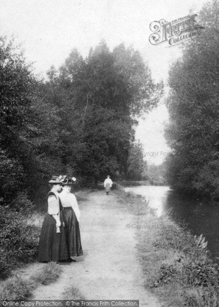 Photo of Ash Vale, Women By The Canal 1908