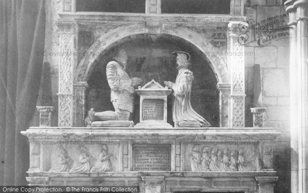 Photo of Ashbourne, Church, Cokayne Monument Detail 1896