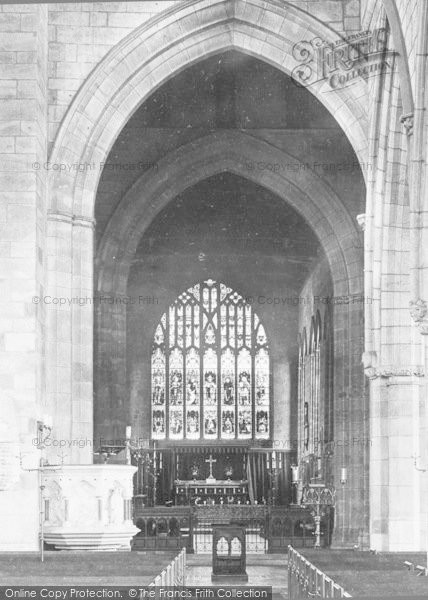 Photo of Ashbourne, Church Interior 1896