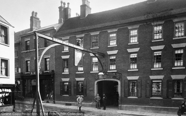 Photo of Ashbourne, Green Man And Black's Head Royal Hotel 1886