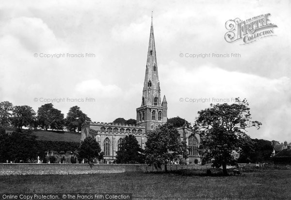 Photo of Ashbourne, St Oswald's Church From The South West 1896