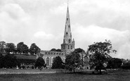 Ashbourne, the Church south west 1896