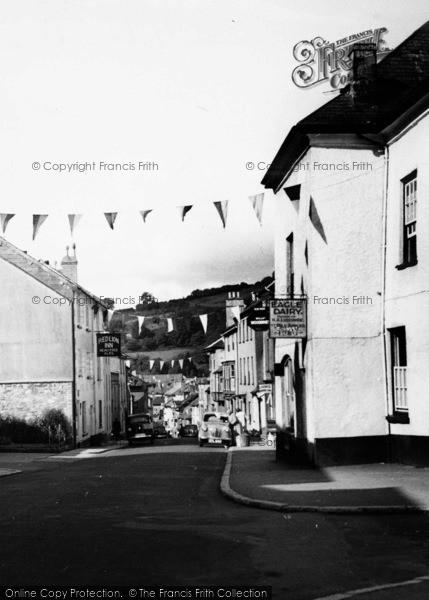 Photo of Ashburton, Bunting In East Street c.1955