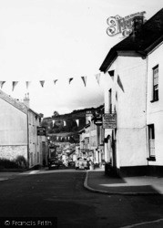 Ashburton, Bunting In East Street c.1955