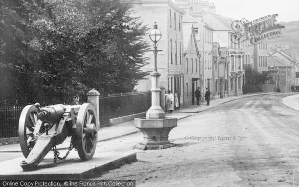 Photo of Ashburton, Cannon In East Street 1907