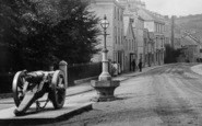 Ashburton, Cannon In East Street 1907