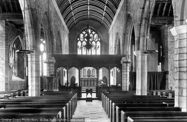 Photo of Ashburton, Church Interior 1907
