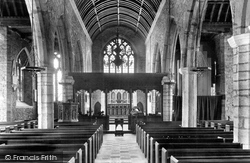 Ashburton, Church Interior 1907