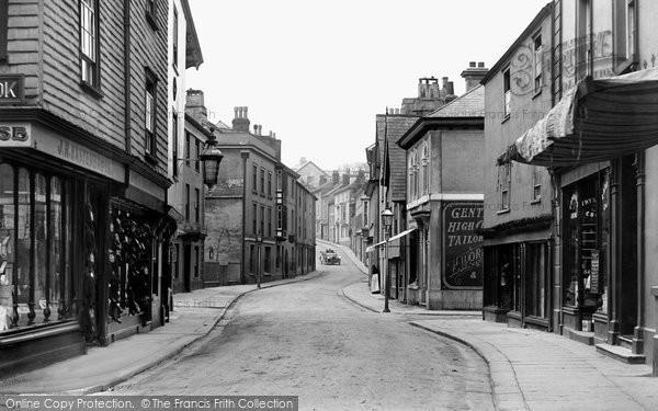 Photo of Ashburton, West Street 1913