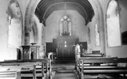 Ashbury, St Mary's Church Interior c.1960