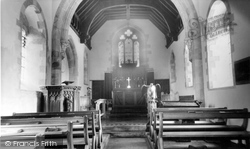 Ashbury, St Mary's Church Interior c.1960