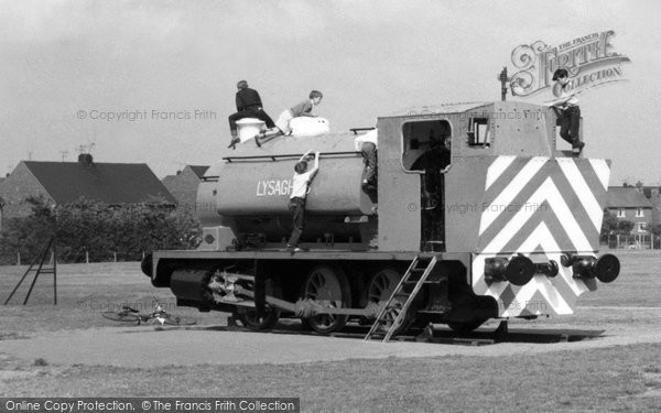Photo of Ashby, Children Playing On The Train c.1960