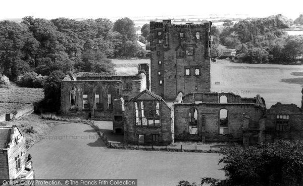 Photo of Ashby de la Zouch, Castle from St Helen's Church c1965
