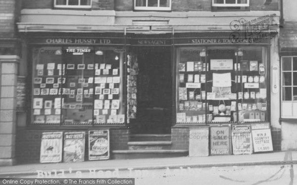 Photo of Ashby De La Zouch, Charles Hussey Ltd, Newsagent c.1960